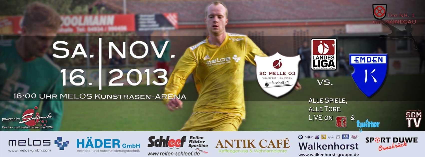 Als Favorit Gegen Bsv Kickers Emden Sc Melle 03 Fussball